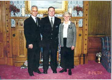 Elder Müller with President and Sister Wilkinson