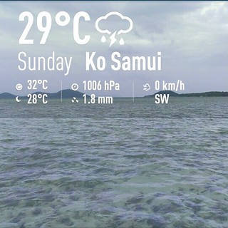 Koh Samui Weather 16th June 2013 サムイ島お天気
