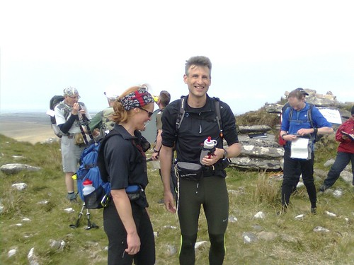 Tara and Fabrice at the top of Brown Willy