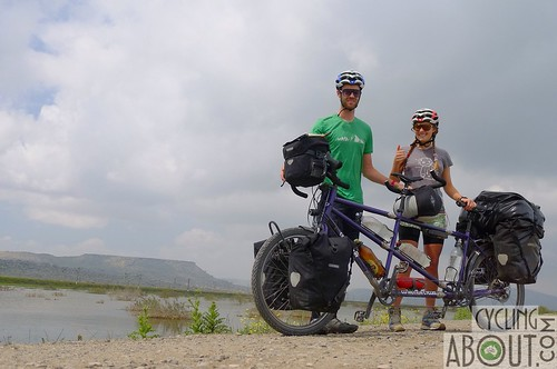 Tandem bicycle touring Azerbaijan