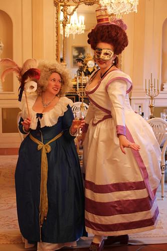 Sarah & Kendra - masquerade evening