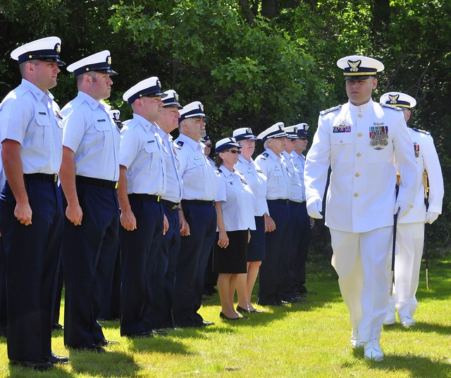 eatons neck coast guard station holds change of command