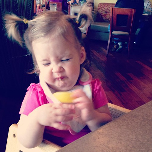 Claire tries a lemon: part two.
