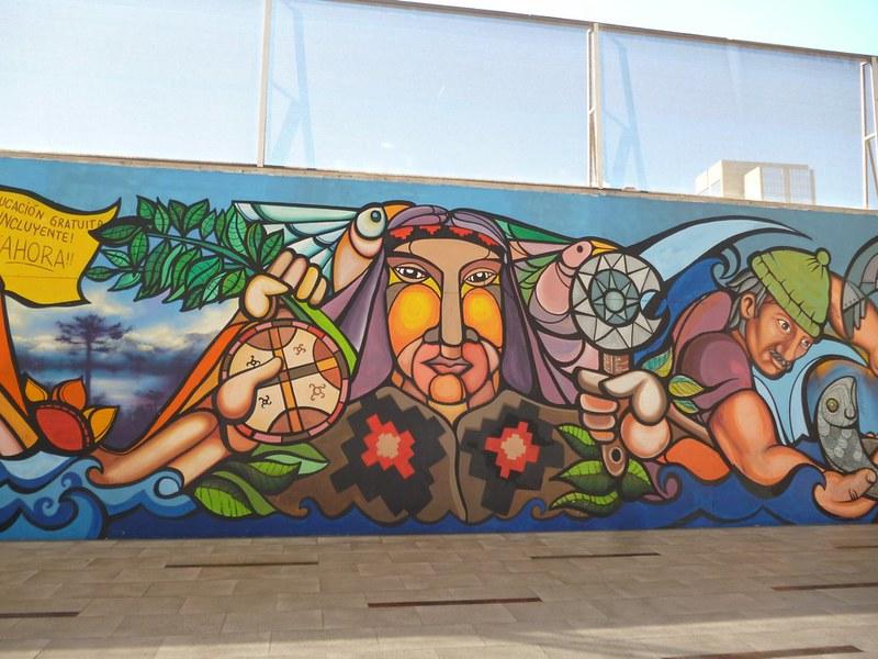 Mural in Santiago
