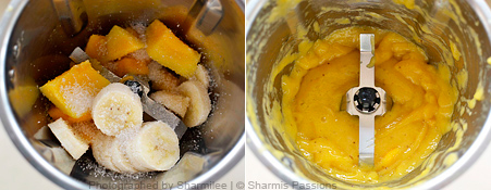 How to make Mango Banana Smoothie - Step1
