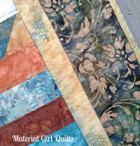 Batik Strips border quilting