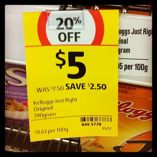 $2.50 is not 20% of $7.50. #coles #sign #fail