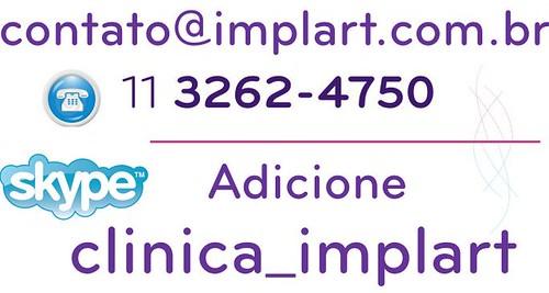 CLÍNICA IMPLART ATENDIMENTO POR EMAIL, TELEFONE E SKYPE by Implart