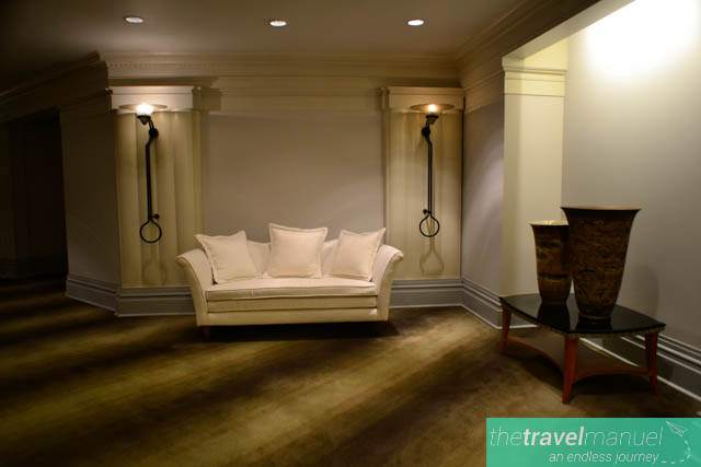 Lounging area on the ground floor.