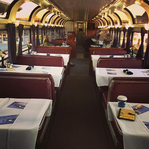 Parlor car is a renovated car from the 50s #amtrak #coaststarlight