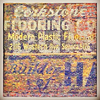 """""""Corkstone Flooring Co."""" Always love seeing ads like this that show phone numbers with the old telephone exchange names. (""""Modern""""! ) At 2116 Western Ave., in Seattle, WA"""