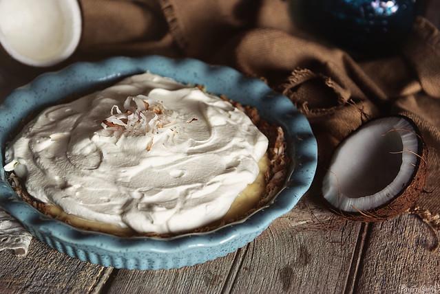 White Chocolate Coconut Cream Pie from PasstheSushi.com