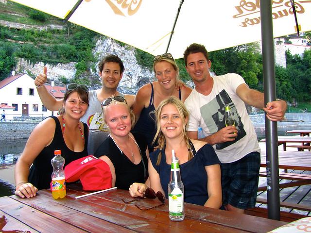 Cesky Krumlov rafting crew