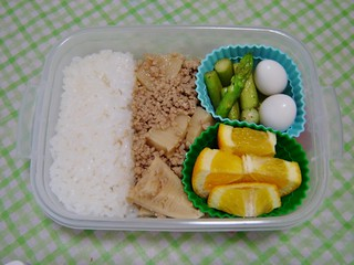 Pork and Takenoko Bento