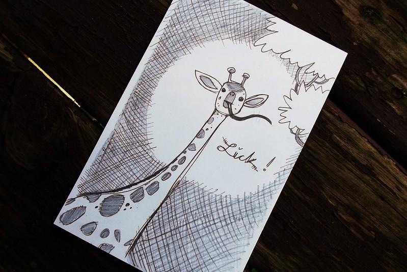 Drawing Plastic Toys - Licking Giraffe