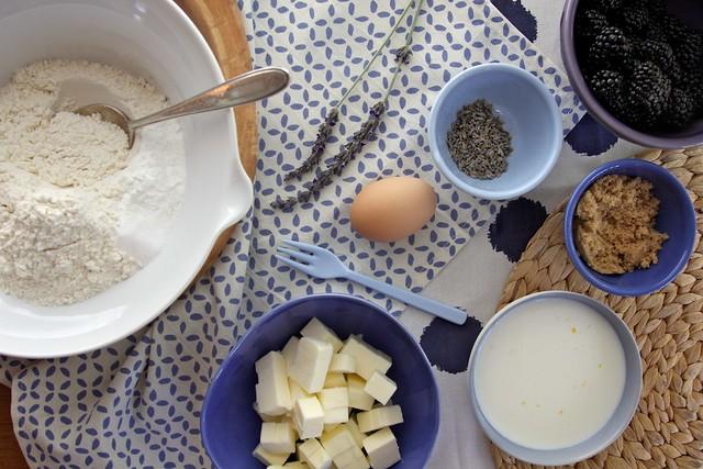 blackberry lavender scones