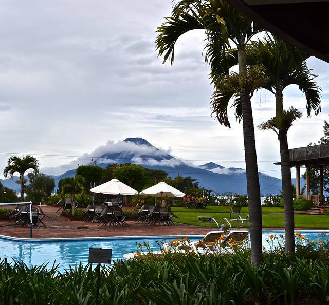 Pool with a view, Lake Atitlan, Guatemala