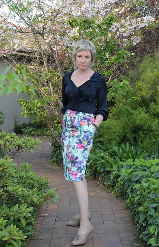 O'Keefe skirt in the springtime