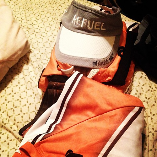 Packing for #RnRDen. Excited to run with my @gotchocomilk #teamrefuel buddies!