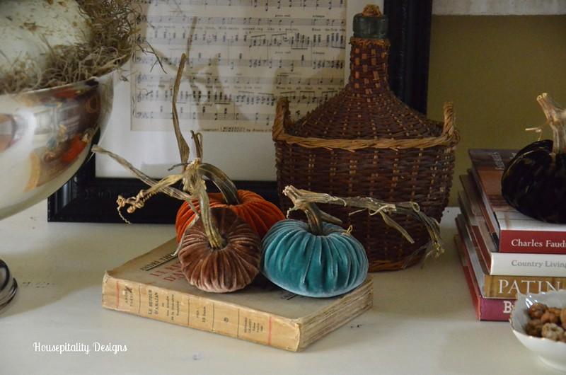 Plush Velvet Pumpkins