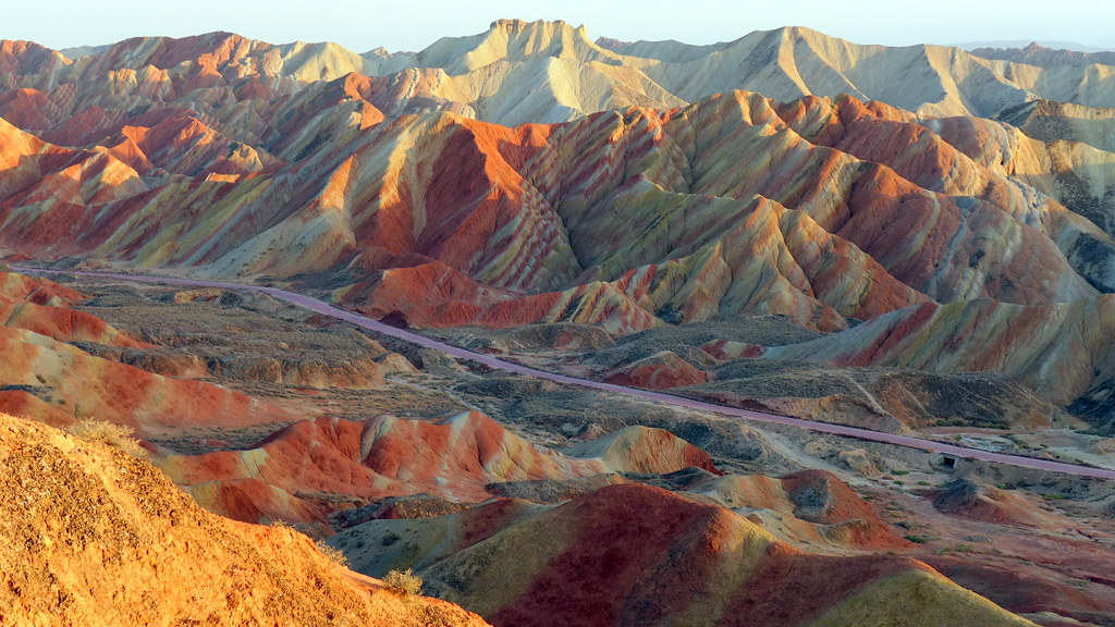 Sunset at Zhangye Danxia, Gansu China