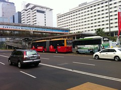 The only 2 Buses i saw in Jakarta's Bus Rapid Transit lanes