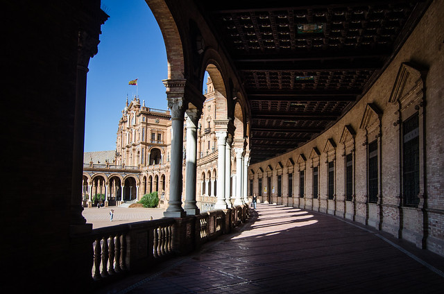 Don't miss the beautiful Plaza de España in Sevilla.