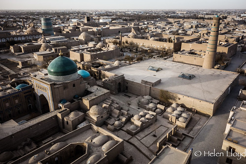 View of Khiva from minaret