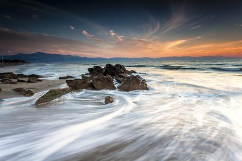 ocean longexposure travel sunset motion beach water landscape rocks day cloudy lee nd slowshutter filters waterscape whereswaldo neutraldensityfilters