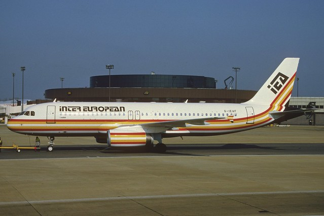 Inter European Airways Airbus A320-231; G-IEAF, March 1993