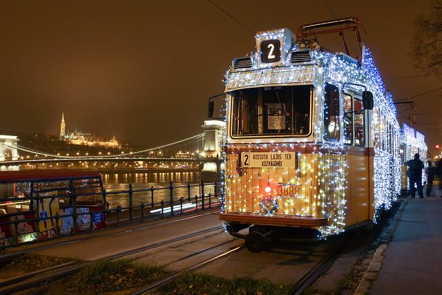 #Flickr12Days Christmas tram in Budapest 1
