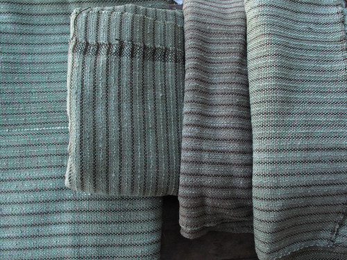 green hand dyed and handwoven cloth
