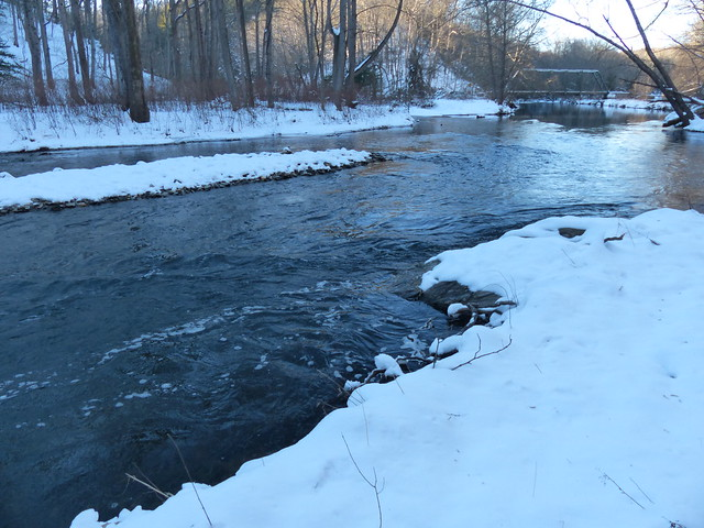 Gunpowder River, Masemore Rd Upstream in Snow