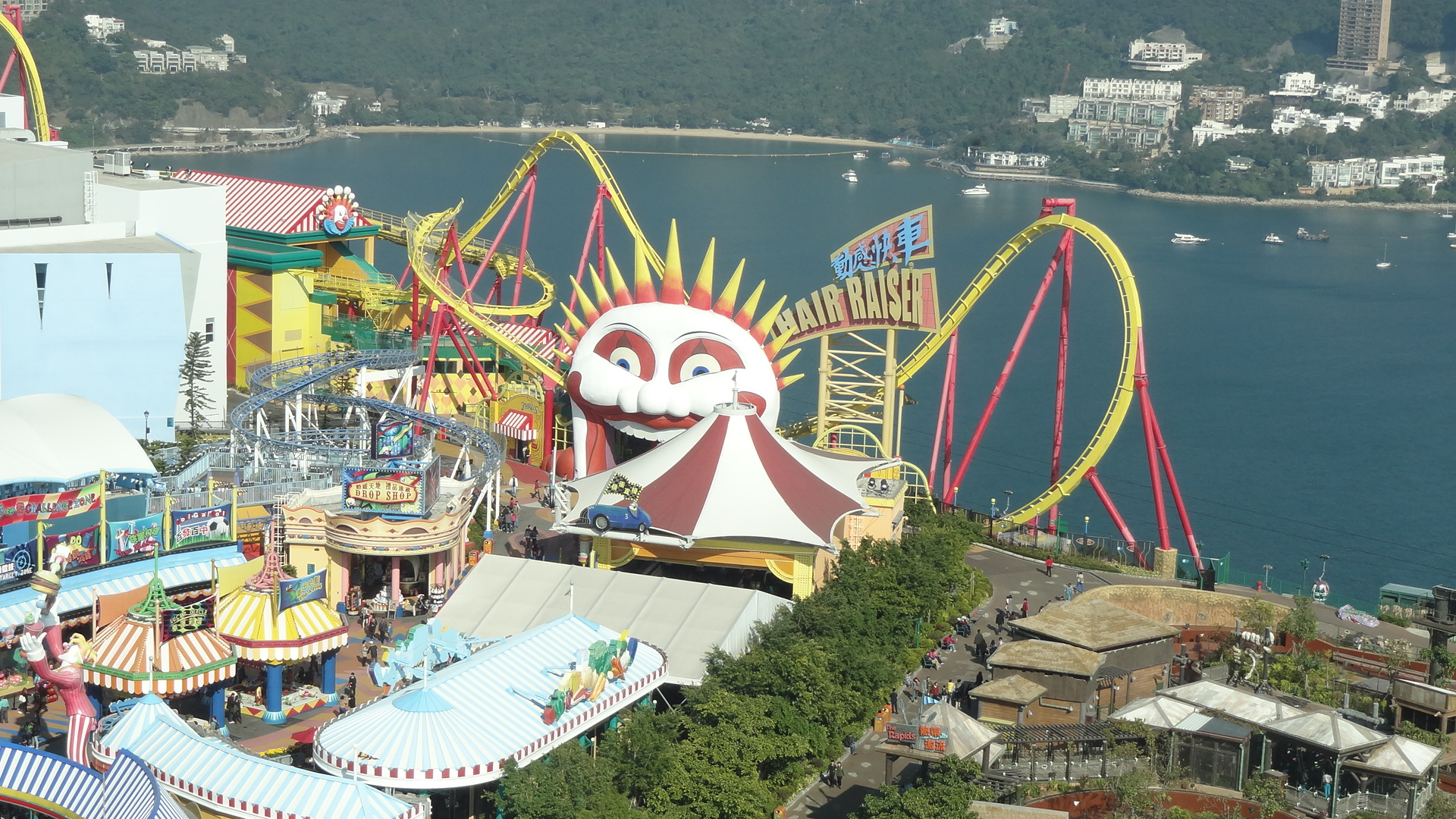 Kick the adrenaline into high gear on the roller coasters of Thrill Mountain