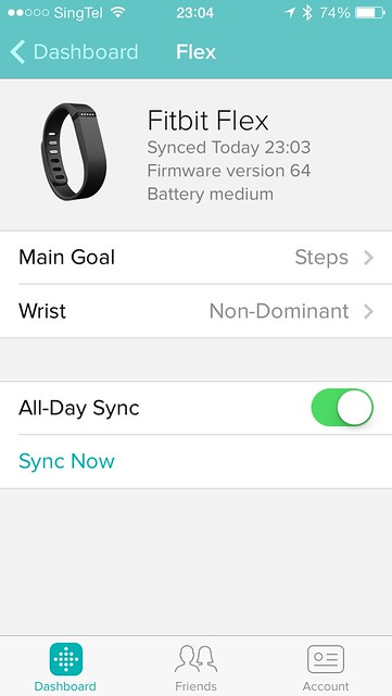 Fitbit iOS App - Settings