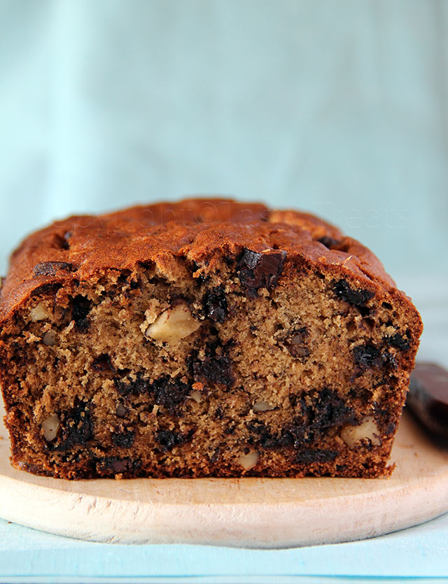 My Favorite Banana Chocolate Chip Walnut Bread
