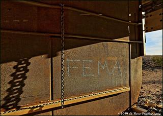 FEMA Prisoner Car [Prisoner Deck & Restraint Chain] - Mojave Desert Crash, Bagdad California, August 2013