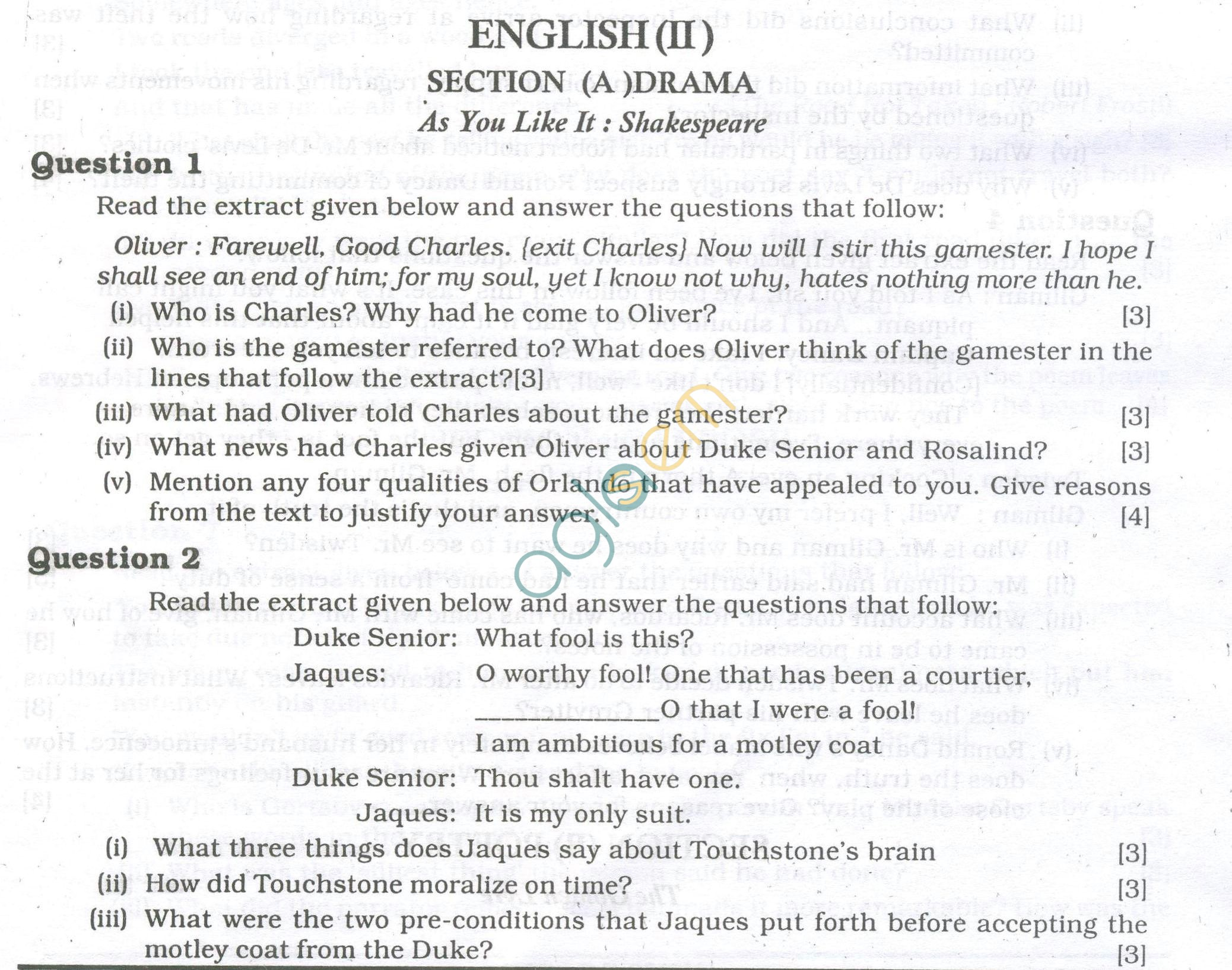 ICSE Question Papers 2013 for Class 10 - English Paper - 2