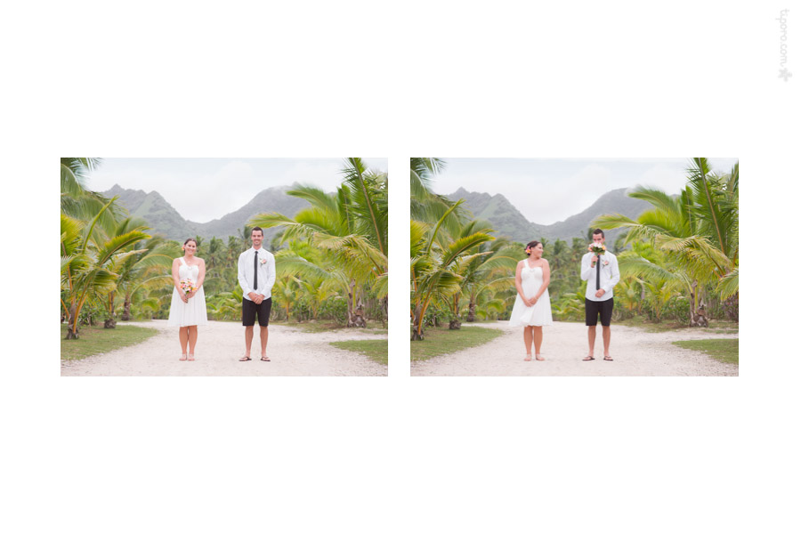 Paper Dolls. island view, The Edgewater, couple photos, Rarotonga, wedding photographer