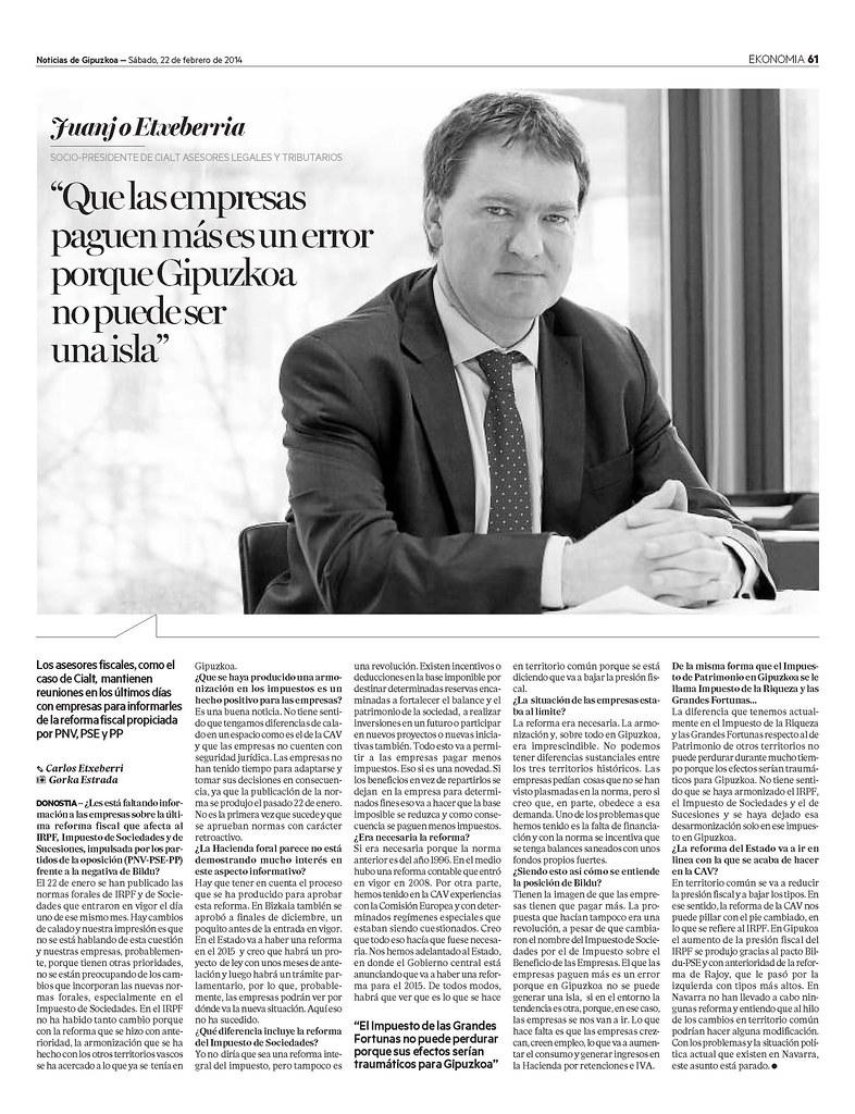 Entrevista Juanjo Etxeberria (Economía)