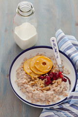 Porridge with Caramelized Quince Cranberries-0018