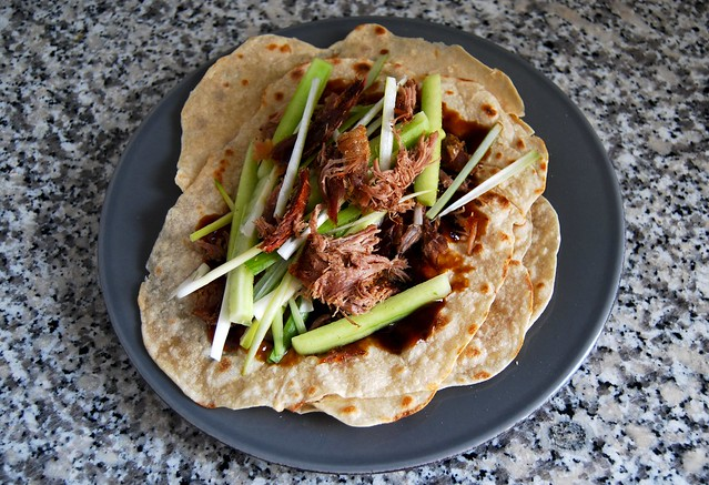 Hoisin Duck Pancake Wraps #pancake #duck #chinese #hoisin