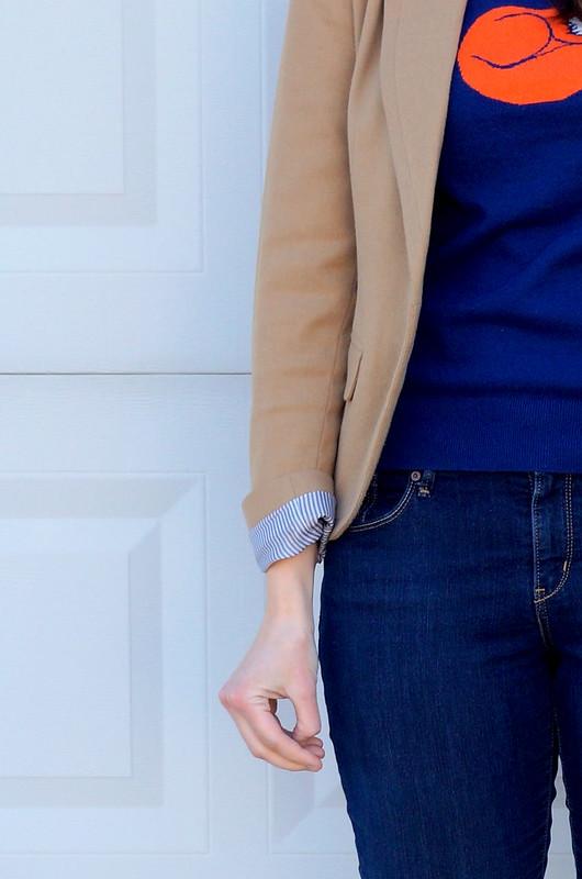fox sweater, Target Merona blazer