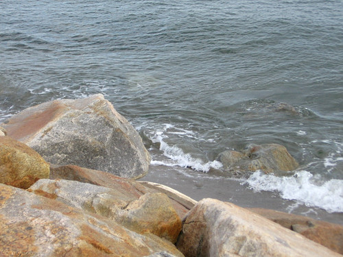 Seawall rocks by Coyoty