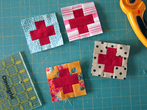 building blocks for Love quilt