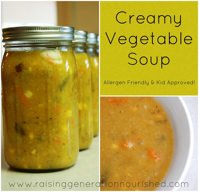 Kid Friendly Creamy Vegetable Soup :: Dairy Free :: Allergen Friendly
