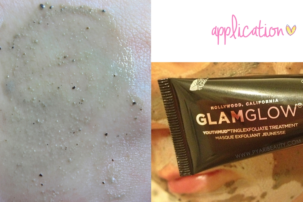 GlamGlow YouthMud TingleExfoliate Mask Application & Swatches