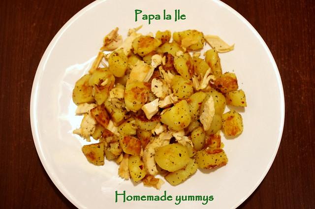 Cartofi picanti cu busuioc si usturoi (1)