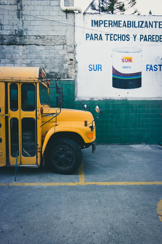 School Bus at Internacional Mision De Cristo