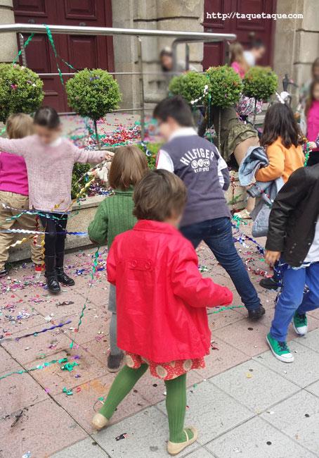 Quema de las madamitas en Ourense, 6 de abril de 2014